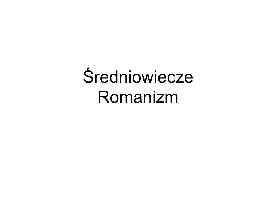 Średniowiecze Romanizm