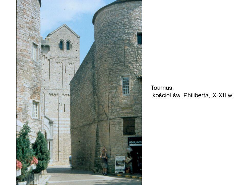 Tournus, kościół św. Philiberta, X-XII w.