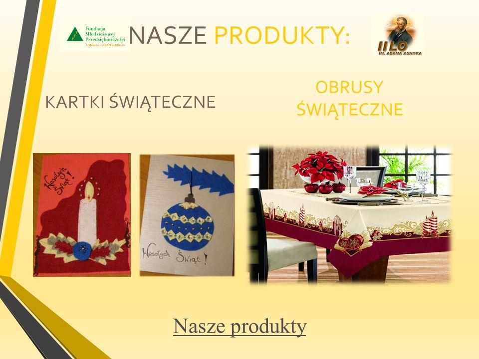  Nasza firma będzie się zajmować produkcją kartek świątecznych i produktów okolicznościowych.
