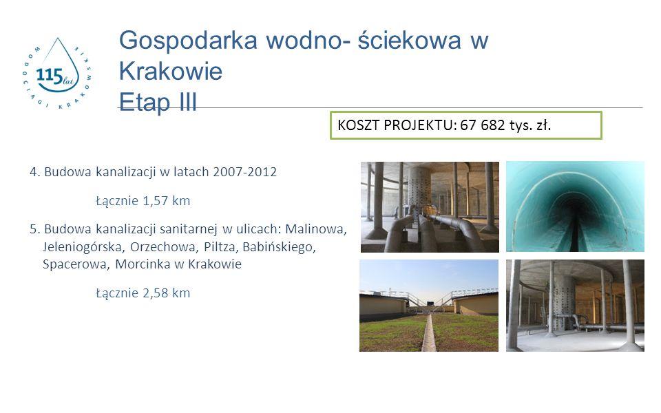 www.prostozkranu.krakow.pl 4. Budowa kanalizacji w latach 2007-2012 Łącznie 1,57 km 5.