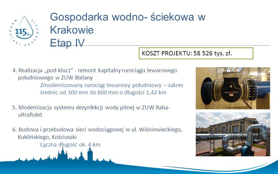 www.prostozkranu.krakow.pl Gospodarka wodno- ściekowa w Krakowie Etap IV 4.