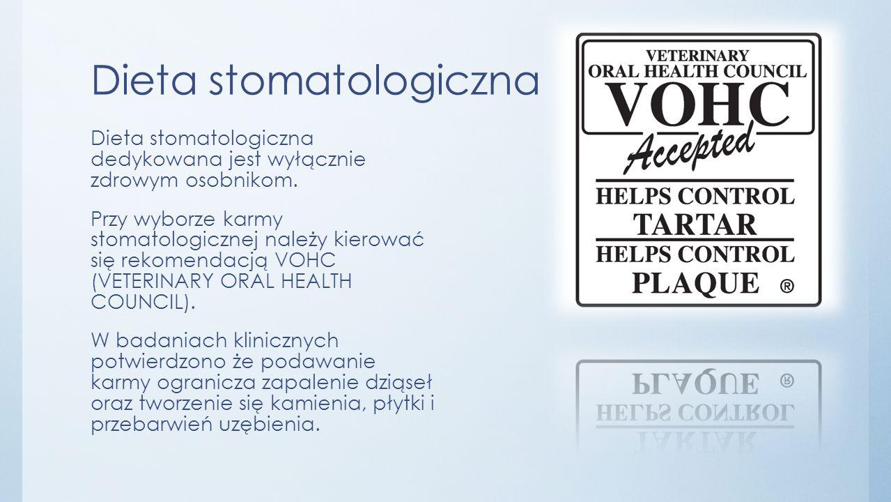 Dieta stomatologiczna Dieta stomatologiczna dedykowana jest wyłącznie zdrowym osobnikom.