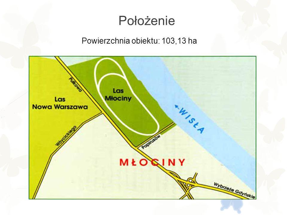 Położenie Powierzchnia obiektu: 103,13 ha