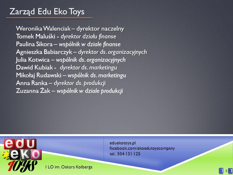 eduekotoys.pl facebook.com/ekoedutoyscompany tel.: 504 131 125 I LO im.