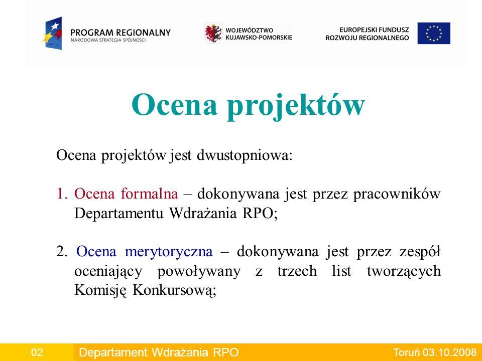 B2 Kryteria oceny jakości projektu c.d.B.2.5 Skuteczność finansowa projektu – min.