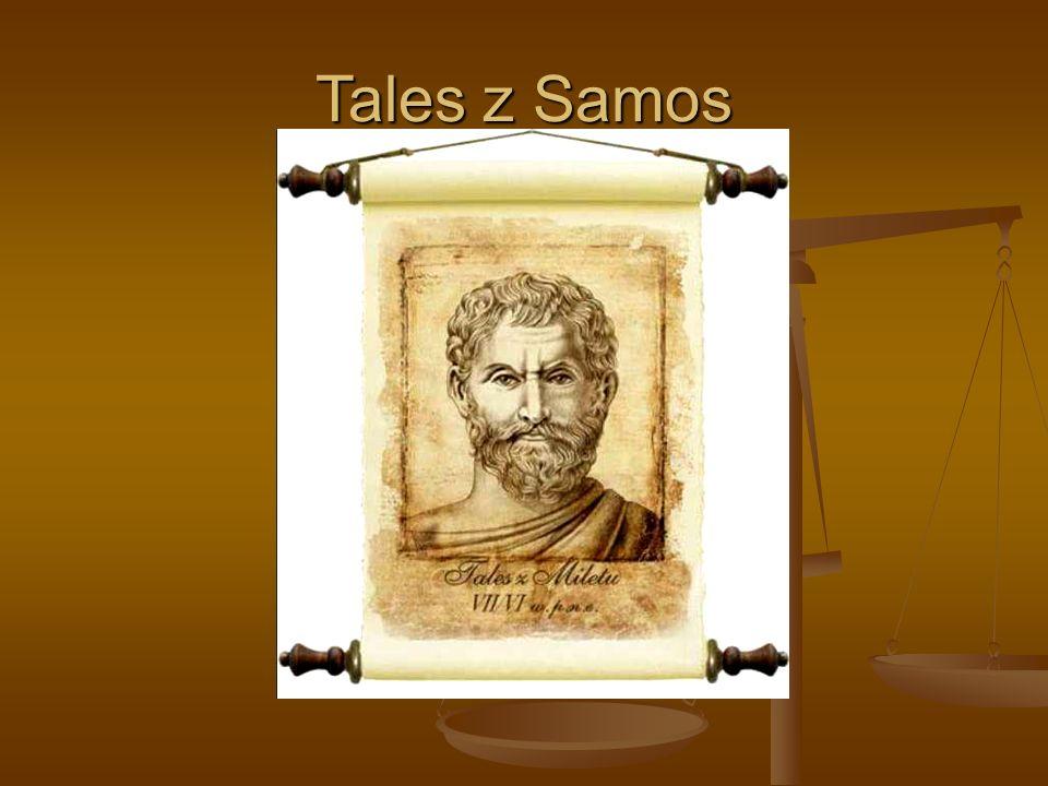 Krótki życiorys Talesa z Samos Grecki filozof, podróżnik, kupiec.