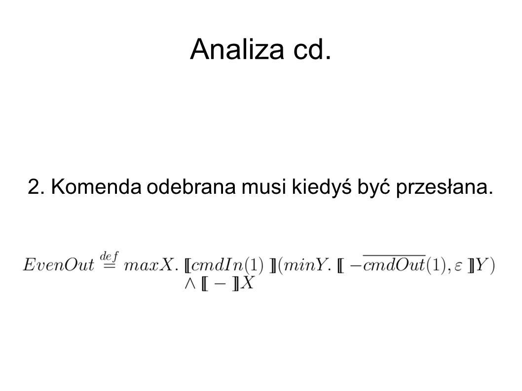 Analiza cd. 2. Komenda odebrana musi kiedyś być przesłana.