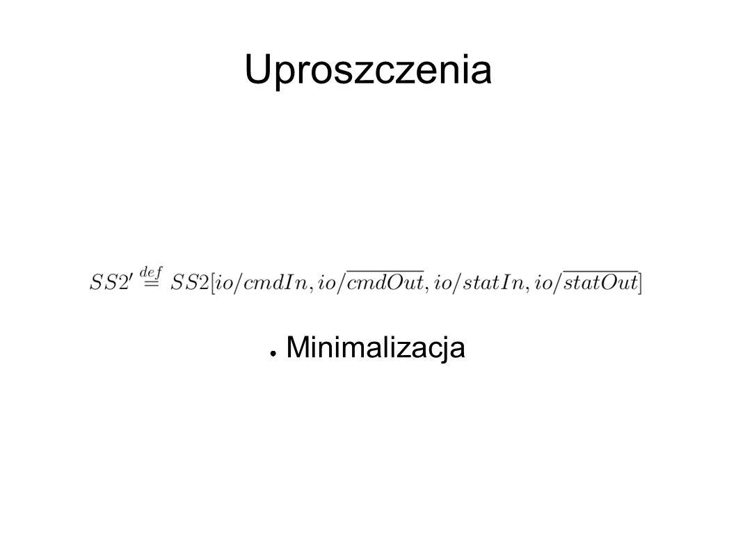 Uproszczenia ● ● Minimalizacja