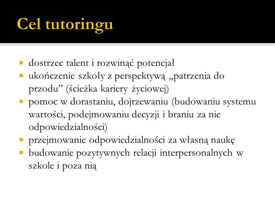  Tutor –mentor.Dobry nauczyciel, mądry doradca i człowiek godny zaufania.