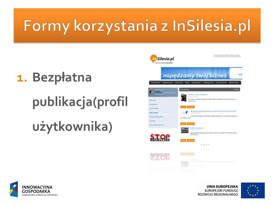 1.Bezpłatna publikacja(profil użytkownika)