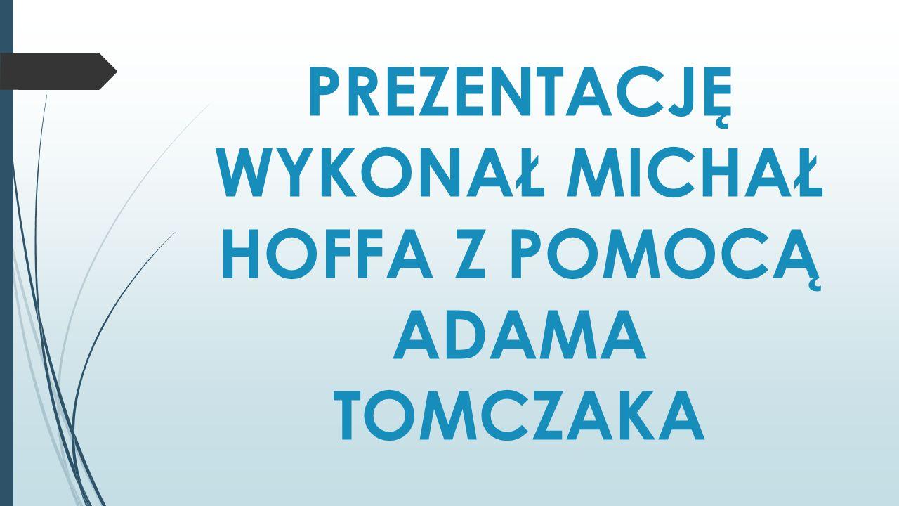 PREZENTACJĘ WYKONAŁ MICHAŁ HOFFA Z POMOCĄ ADAMA TOMCZAKA