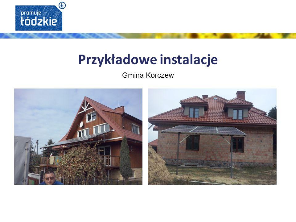 Przykładowe instalacje Gmina Korczew