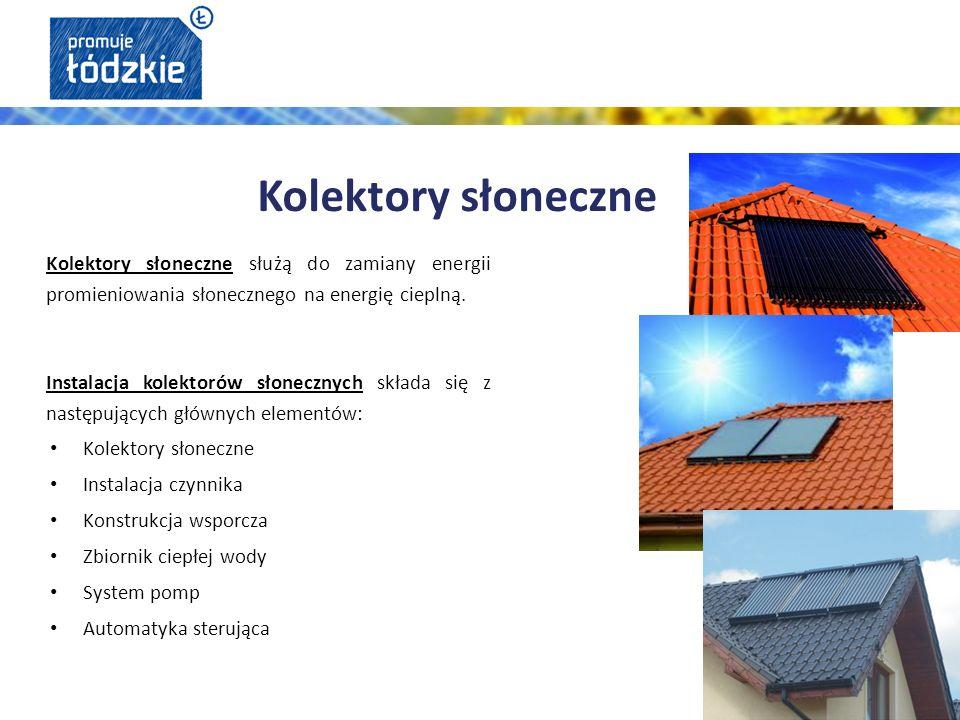 Kolektory słoneczne służą do zamiany energii promieniowania słonecznego na energię cieplną.