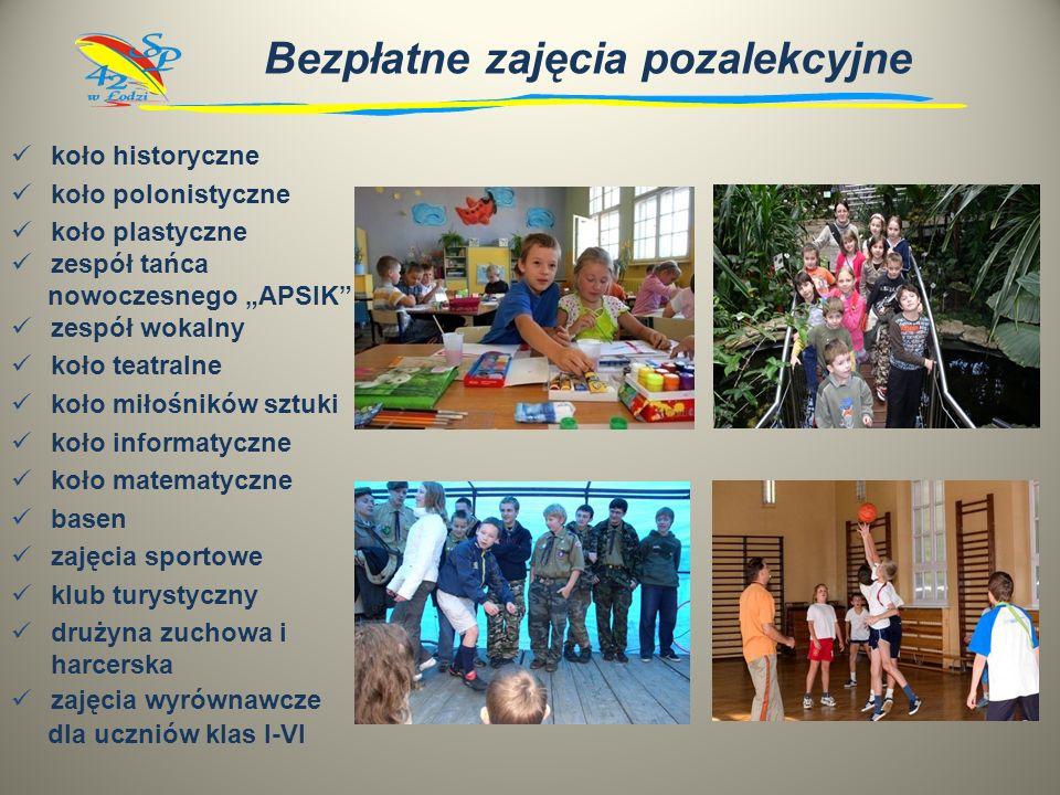 Oferujemy język angielski w klasach I - VI język niemiecki w klasach IV - VI informatykę od 1 do 6 klasy język rosyjski w klasach IV - VI pływanie kor