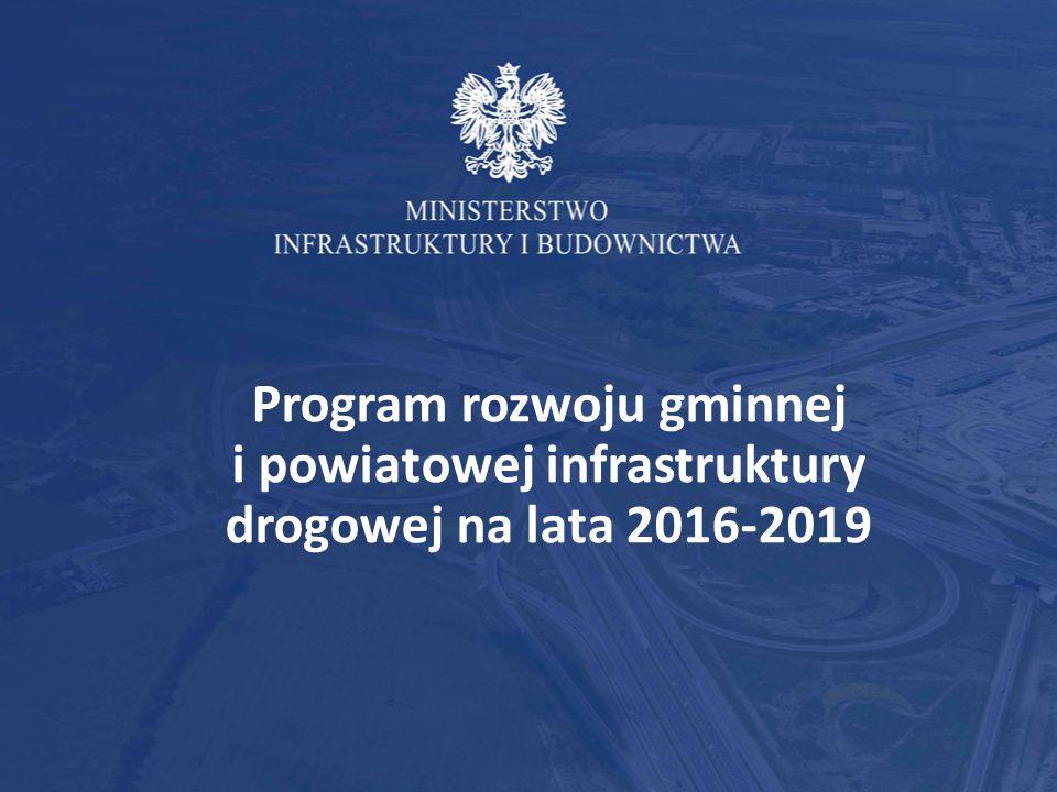 Podstawy prawne Program jest następcą dwóch edycji Narodowego Programu Przebudowy Dróg Lokalnych nadzorowanego przez ministra właściwego ds.