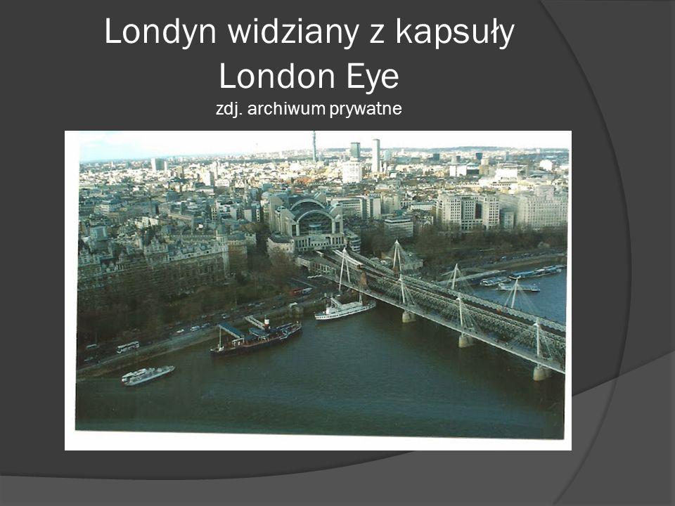 Londyn widziany z kapsuły London Eye zdj. archiwum prywatne