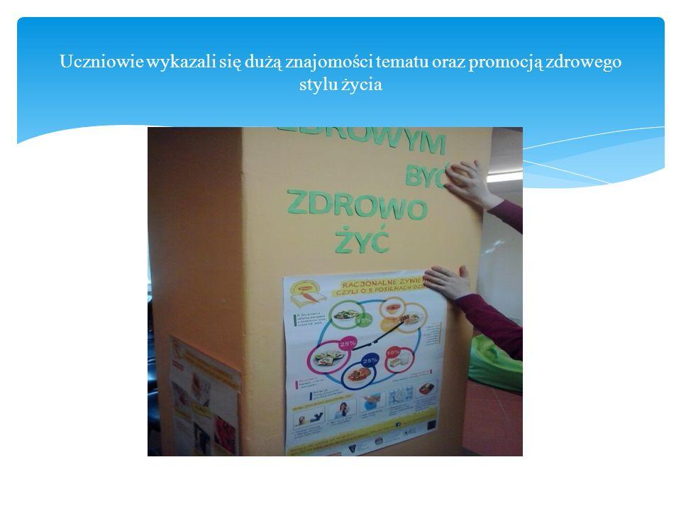 Uczniowie wykazali się dużą znajomości tematu oraz promocją zdrowego stylu życia