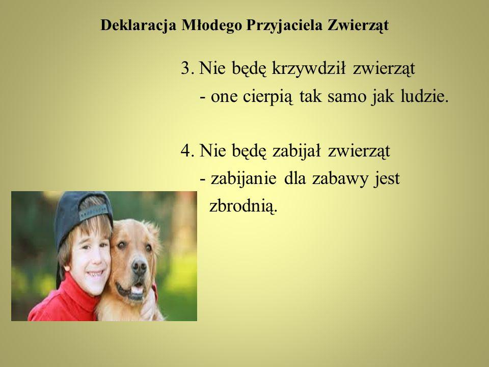 Deklaracja Młodego Przyjaciela Zwierząt 3.