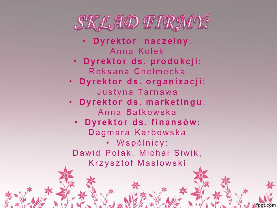 Dyrektor naczelny: Anna Kołek Dyrektor ds.produkcji: Roksana Chełmecka Dyrektor ds.