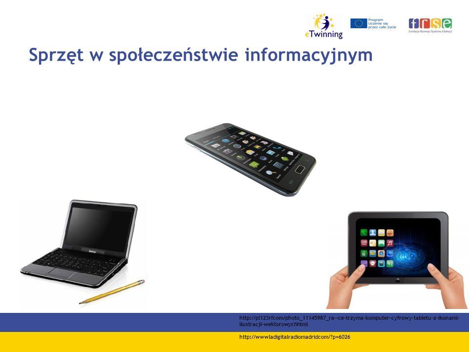 Sprzęt w społeczeństwie informacyjnym http://pl123rfcom/photo_11145987_ra--ce-trzyma-komputer-cyfrowy-tabletu-z-ikonami- ilustracji-wektorowychhtml http://wwwladigitalradiomadridcom/ p=6026