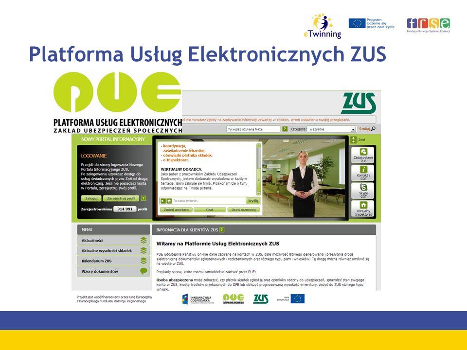 Platforma Usług Elektronicznych ZUS