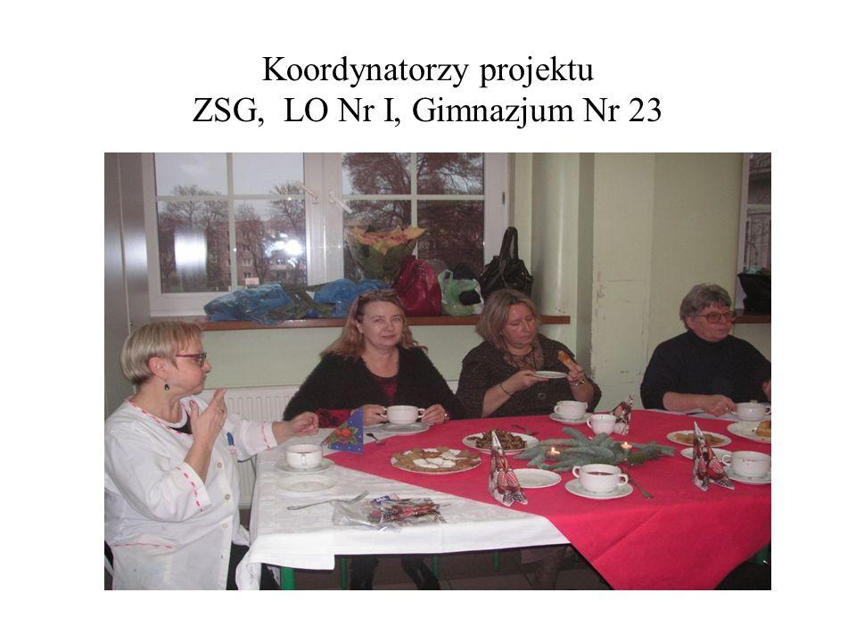 Koordynatorzy projektu ZSG, LO Nr I, Gimnazjum Nr 23