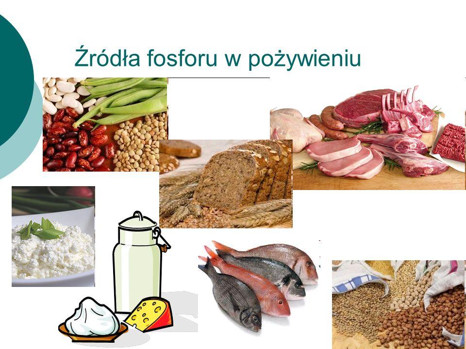 Źródła fosforu w pożywieniu