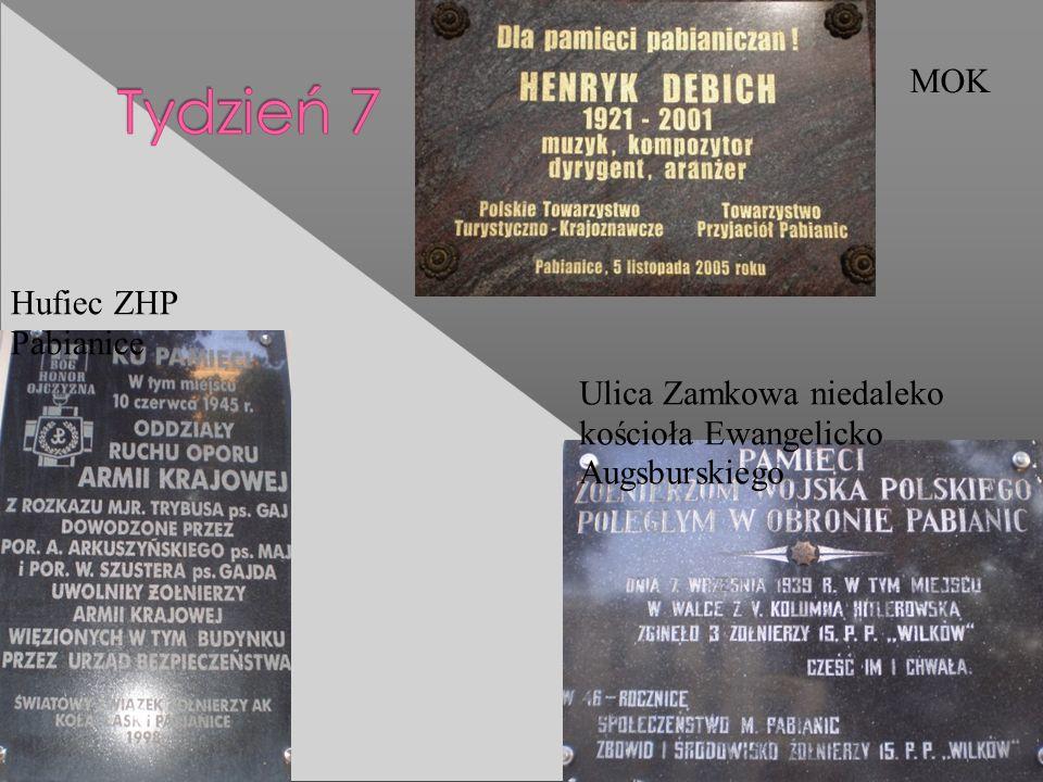 Hufiec ZHP Pabianice Ulica Zamkowa niedaleko kościoła Ewangelicko Augsburskiego MOK