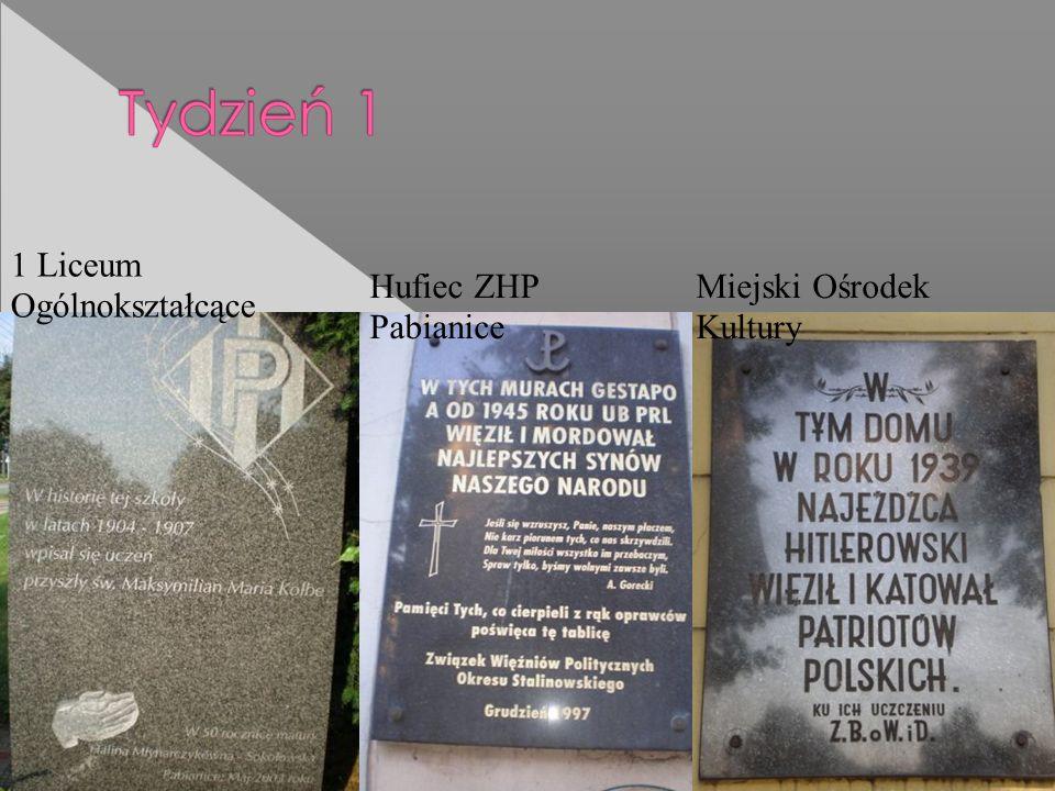 1 Liceum Ogólnokształcące Hufiec ZHP Pabianice Miejski Ośrodek Kultury