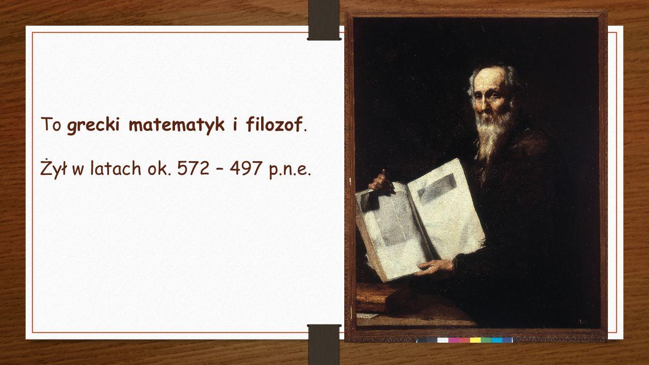 Urodził się na wyspie Samos, ale znaczną część życia spędził w Krotonie, które to miasto należało do greckich kolonii w południowej Italii.