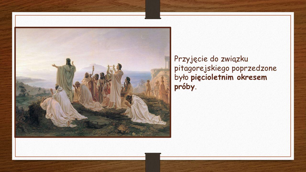 Prace pitagorejczyków były objęte tajemnicą, a większą część wiedzy przekazywano sobie z ust do ust.