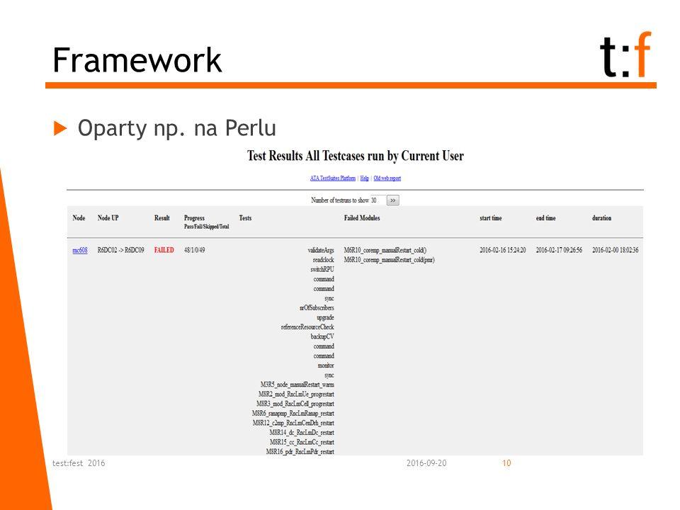  Oparty np. na Perlu 2016-09-20test:fest 201610 Framework