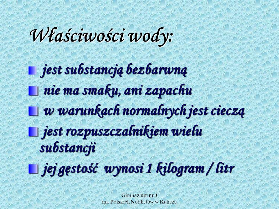 Gimnazjum nr 3 im. Polskich Noblistów w Kaliszu Pływanie ciał
