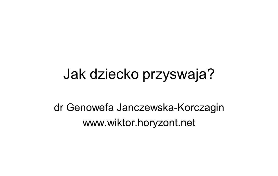 Jak dziecko przyswaja dr Genowefa Janczewska-Korczagin www.wiktor.horyzont.net
