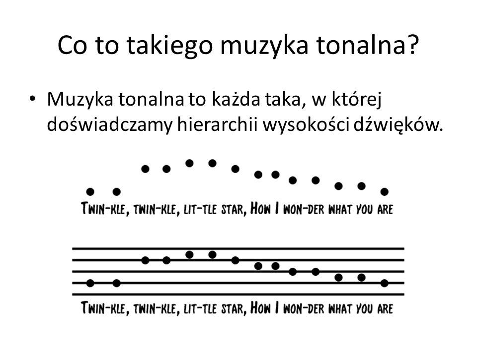 Co to takiego muzyka tonalna.