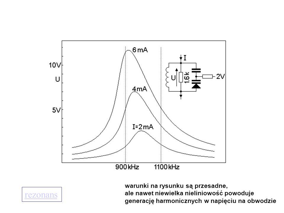 Poprawa liniowości  uniezależnienie pojemności od napięcia przemiennego na diodach, ale pojemność diod musi zależeć od napięcia przestrajającego.