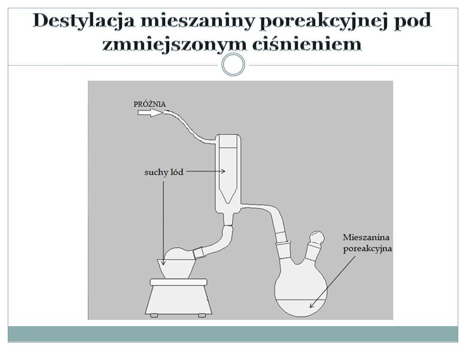 Aby rozdzielić mieszaninę soli zastosowaliśmy metodę rozpuszczenia jej w DMC – węglanie dimetylu, a następnie krystalizacji.