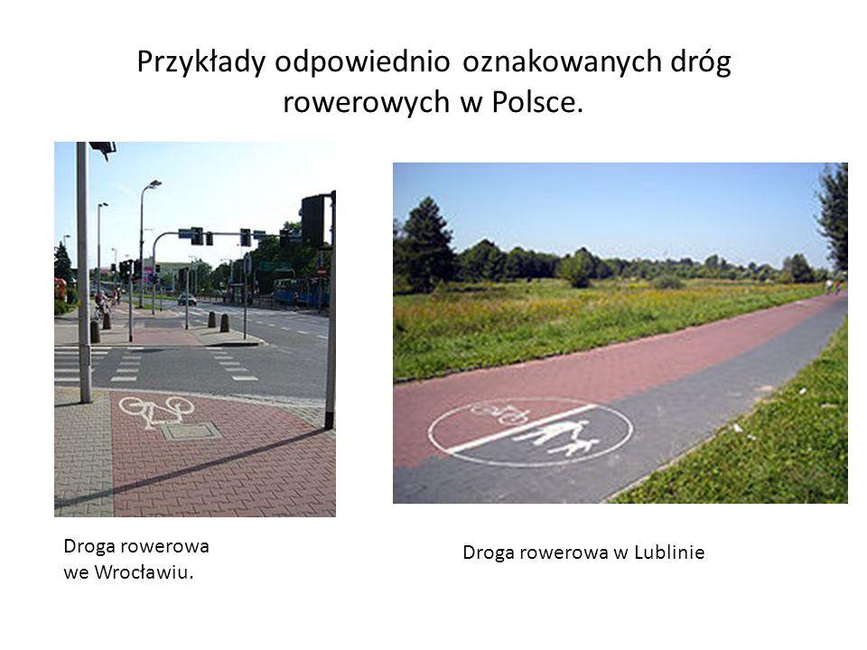 Droga rowerowa musi mieć kilka ważnych elementów : - mieć min.