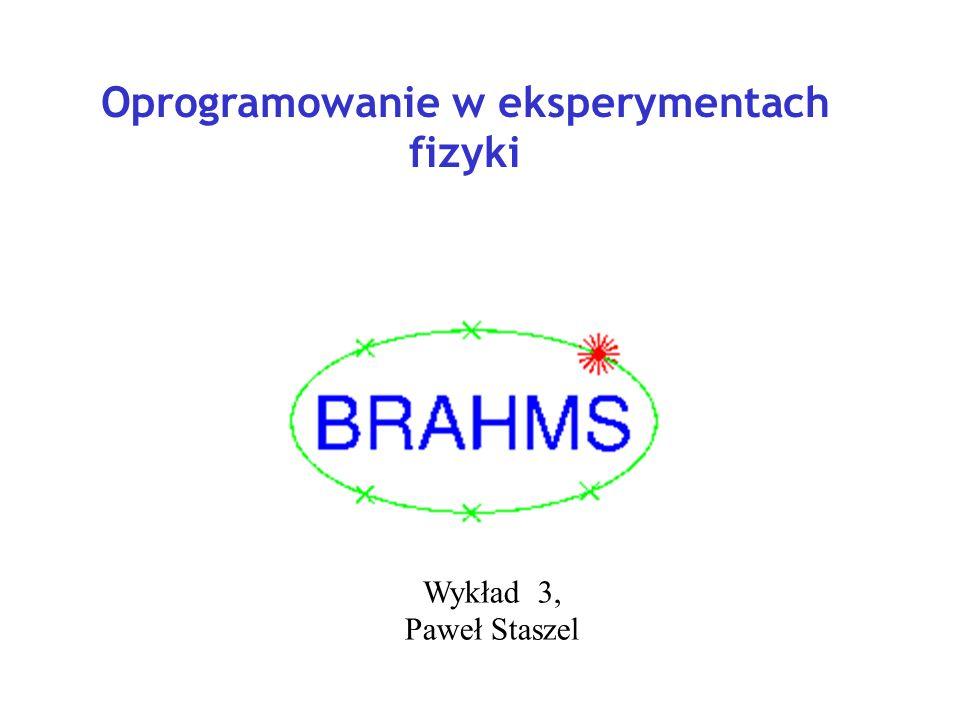 Oprogramowanie w eksperymentach fizyki Wykład 3, Paweł Staszel