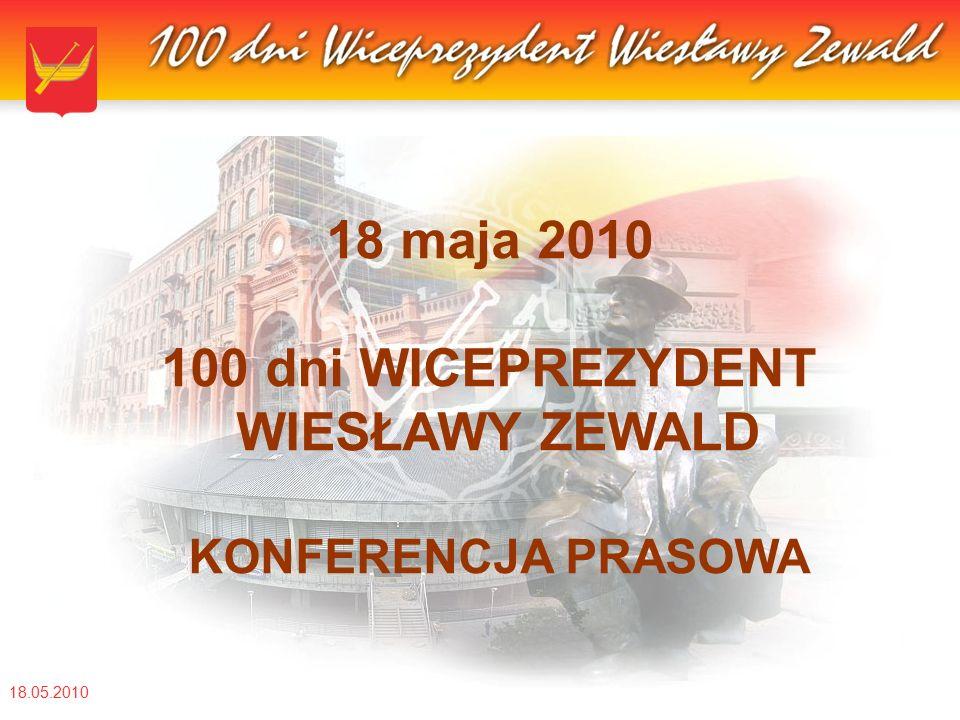 18.05.2010 18 maja 2010 100 dni WICEPREZYDENT WIESŁAWY ZEWALD KONFERENCJA PRASOWA