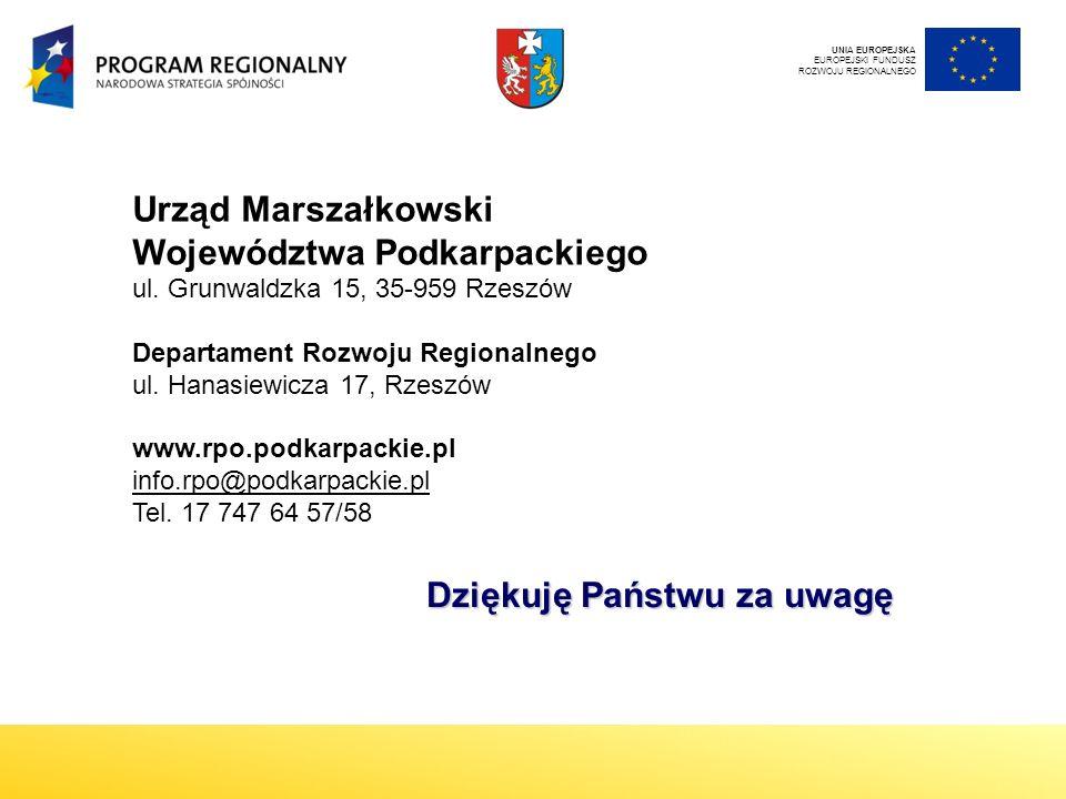 Urząd Marszałkowski Województwa Podkarpackiego ul.