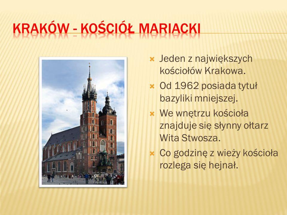  Jeden z największych kościołów Krakowa.  Od 1962 posiada tytuł bazyliki mniejszej.