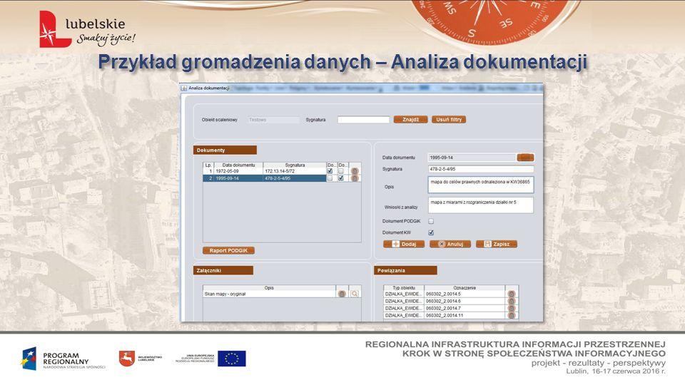 Przykład gromadzenia danych – Analiza dokumentacji