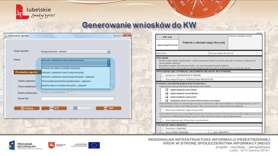Generowanie wniosków do KW