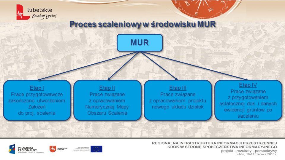 Proces scaleniowy w środowisku MUR MURMUR Etap I Prace przygotowawcze zakończone utworzeniem Założeń do proj.
