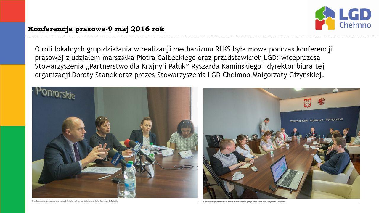 O roli lokalnych grup działania w realizacji mechanizmu RLKS była mowa podczas konferencji prasowej z udziałem marszałka Piotra Całbeckiego oraz przed