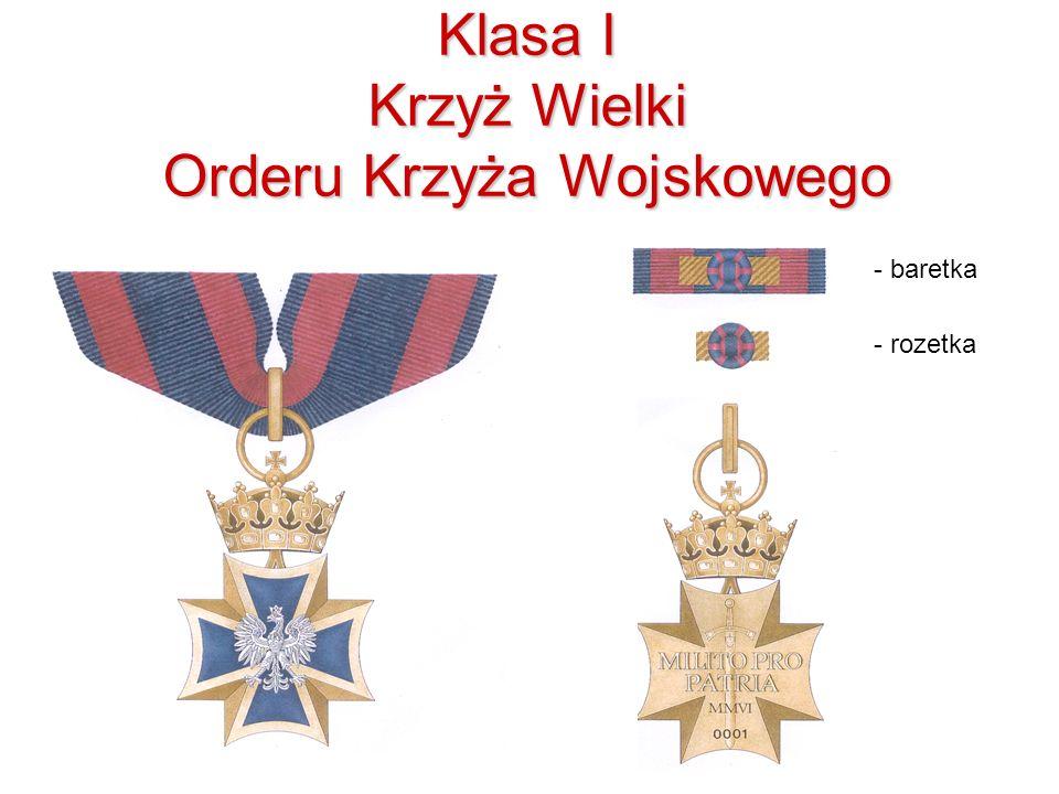Klasa I Krzyż Wielki Orderu Krzyża Wojskowego - baretka - rozetka