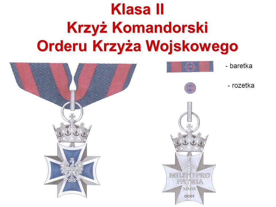 Klasa II Krzyż Komandorski Orderu Krzyża Wojskowego - baretka - rozetka