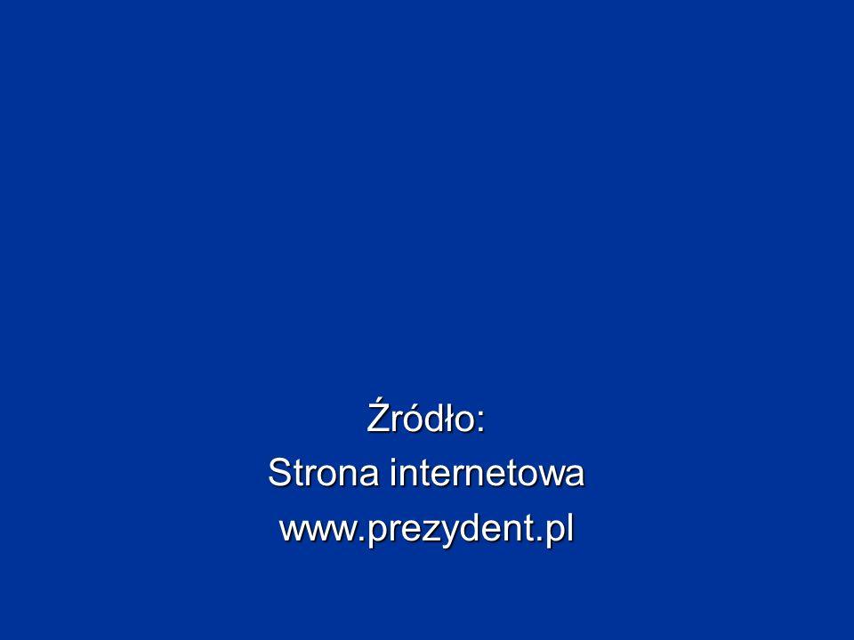 Źródło: Strona internetowa www.prezydent.pl