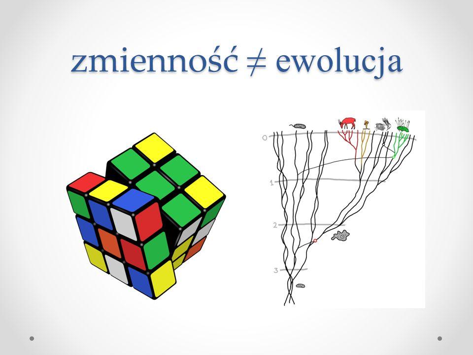 zmienność ≠ ewolucja